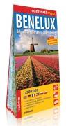 Benelux Belgium Netherlands Luxemburg laminowana mapa samochodowa 1:500 000