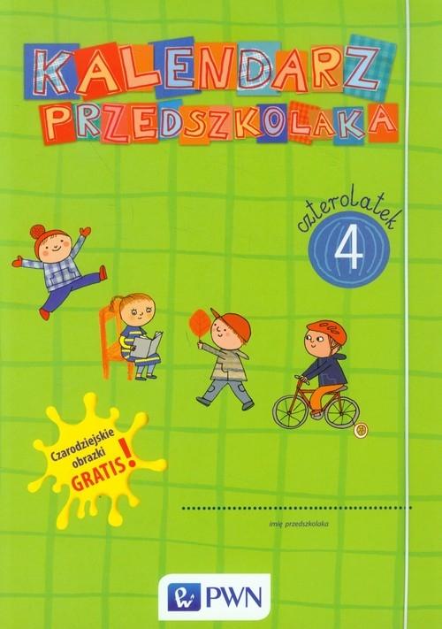 Kalendarz przedszkolaka Czterolatek Teczka + Czarodziejskie obrazki
