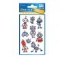 Naklejki brokatowe - Roboty (57291)