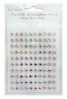 Kryształki samoprzylepne 6 mm 100 szt Opal