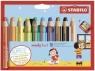 Kredki Woody 3w1 - 10 kolorów + temperówka