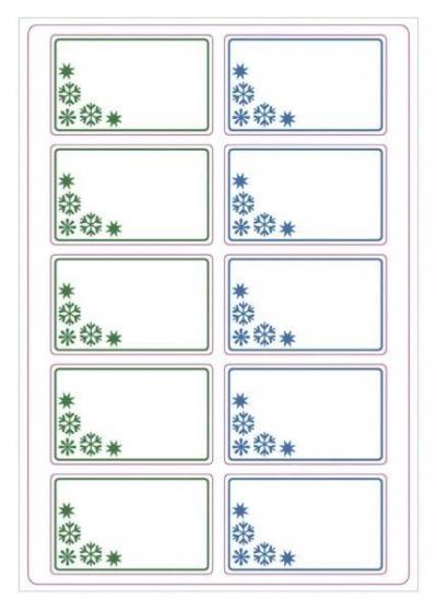 Etykiety A zielone/niebieskie