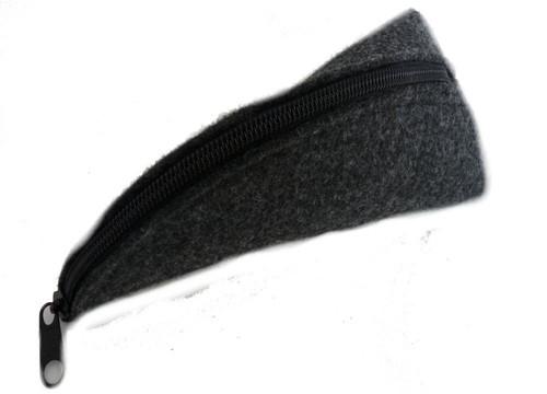 Piórnik tuba Rożek filcowy czarny