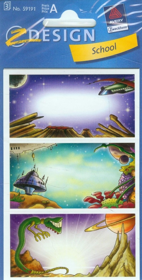 Naklejki na zeszyty Z Design School Kosmos