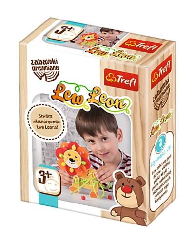 Zabawka drewniana Lew Leon
