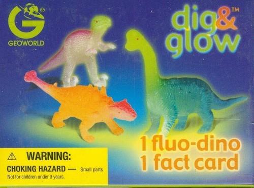 Wykopaliska świecące dinozaury mini - Triceratops