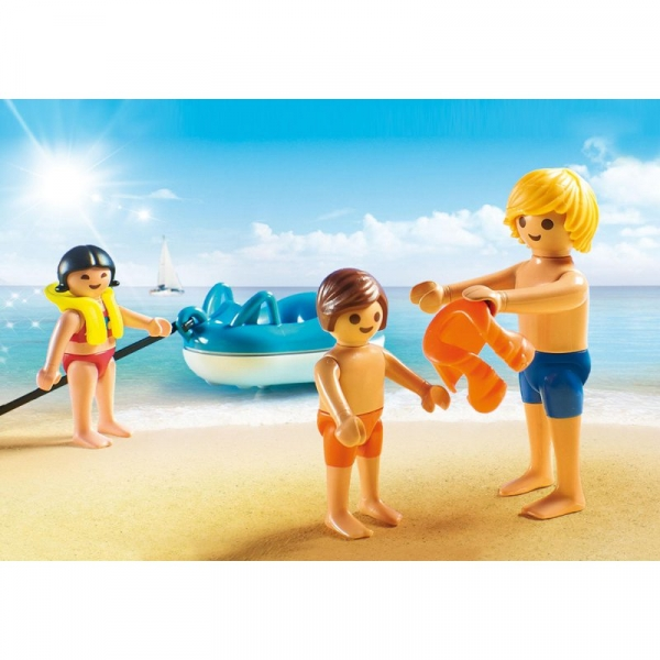 Playmobil Family Fun: Łódź motorowa z pontonami (70091)