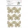 Motylki materiałowe 6 szt. (2198)