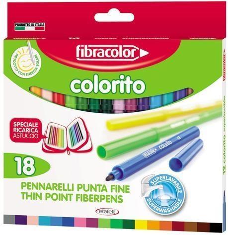 Pisaki Colorito 2,6mm 18 kol. FIBRACOLOR