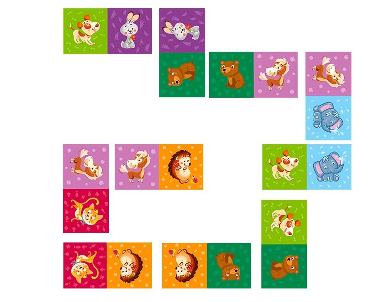 Domino Zwierzęta - 29 elementów (DOG300248)