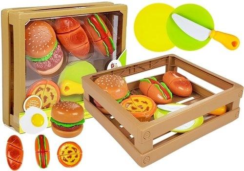 Zestaw do krojenia burger na rzepy w skrzyni