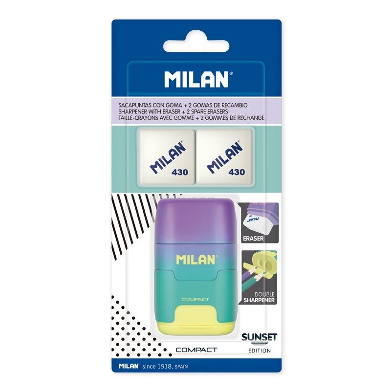 Milan, temperówko-gumka Compact Sunset + 2 gumki 430 (BYM10454)