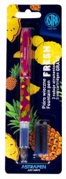 Pióro młodzieżowe Fresh - 1 szt. + 3 naboje (203120004) mix kolorów