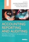 Accounting reporting and auditing Joanna Krasodomska Katarzyna Chłapek Sylwia Kraje