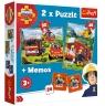 Puzzle 2w1 + memos: Strażak Sam - Strażacy w akcji (90791)