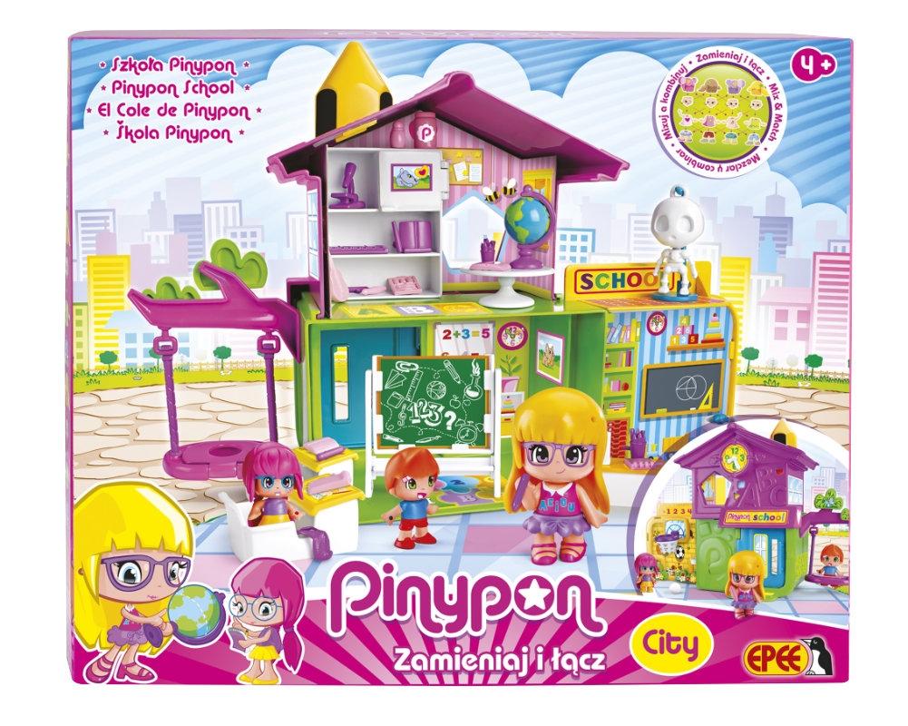 PinyPon City - Zestaw Szkoła z 3 laleczkami i akcesoriami (14102)