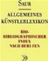 Allgemeines Kunst. Bio-Biblio v 2 Index Nach Berufen