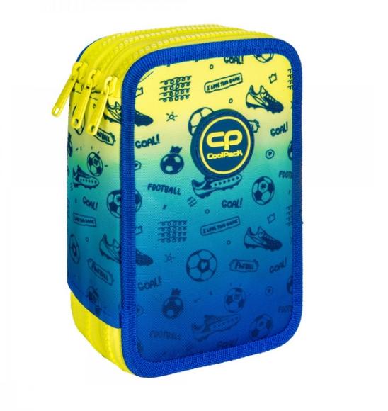 Coolpack Jumper 3, piórnik potrójny - Football 2T (D067339)
