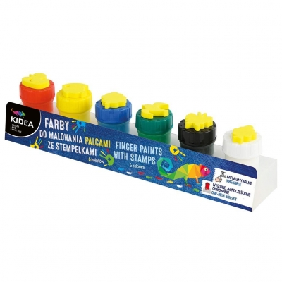 Farby do malowania palcami ze stemplami 6 szt. (FDPS6KA)
