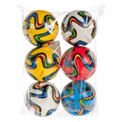 Piłka miękka 10cm kolorowe 6szt