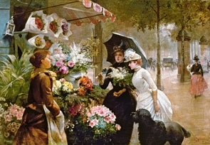 Puzzle 1000 Copy of Flower Stand in Paris (102921) .