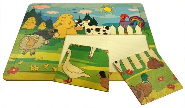 Puzzle farma - 6 elementów