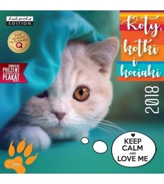 Kalendarz ścienny Koty  2018 .