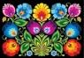 Pocztówka - Nr 6 Kodra z kwiatami czarna FOLKSTAR