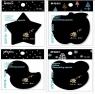 Karteczki samoprzylepne Cool Black (447680)mix wzorów