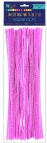 Druciki kreatywne 30 cm różowe 25 sztuk
