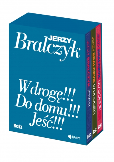 """""""W drogę!!!"""", """"Do domu!!!"""", """"Jeść!!!"""" - komplet w etui z audiobookami prof. Jerzy Bralczyk"""