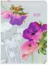 Kalendarz tygodniowy DI3 akwarela kwiaty