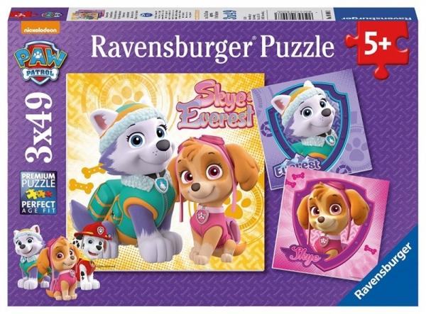 Puzzle 3 x 49 elementów, Psi Patrol (080083)