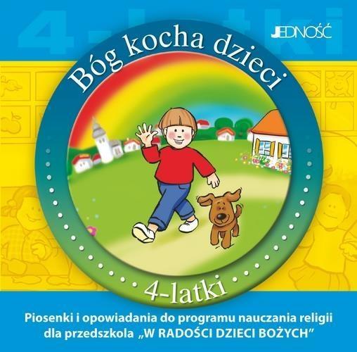 Bóg kocha dzieci 4-latki - Płyta CD z piosenkami.. praca zbiorowa