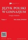Język polski w gimnazjum nr 1 2018/2019