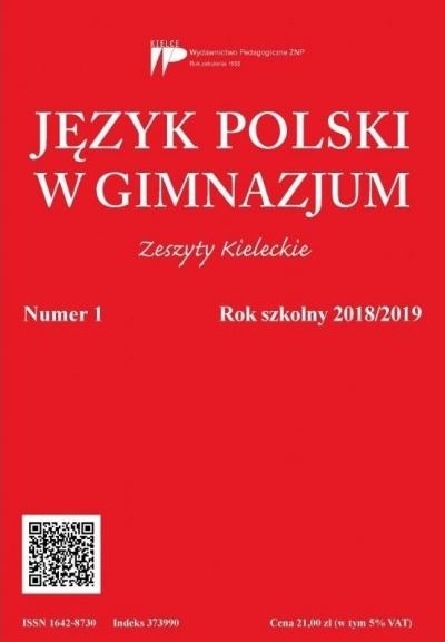 Język polski w gimnazjum nr 1 2018/2019 praca zbiorowa