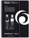 Brulion na spirali 80 A4 KR X-book pro czarny