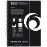 Brulion na spirali x-book pro A4/80k kratka - czarny (11155702)