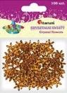 Dodatek dekoracyjny Craft-fun kwiaty kryształki 17mm (DG008)