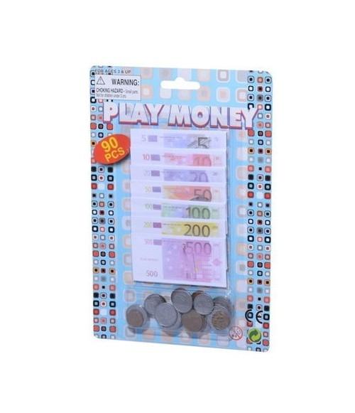 Zestaw banknotów i monet Euro