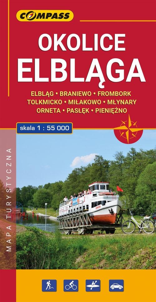 Okolice Elbląga mapa laminowana