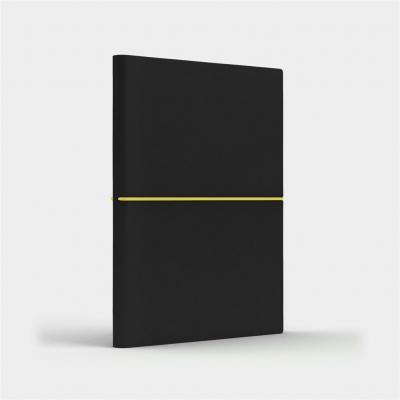 Notatnik B6 Fun S kratka czarny/cytrynowy