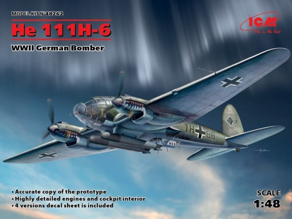 He 111H-6 WWII German Bomber (48262)
