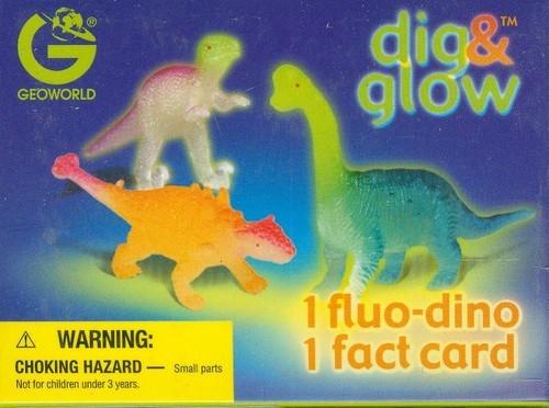 Wykopaliska świecące dinozaury mini Euoplocephalus