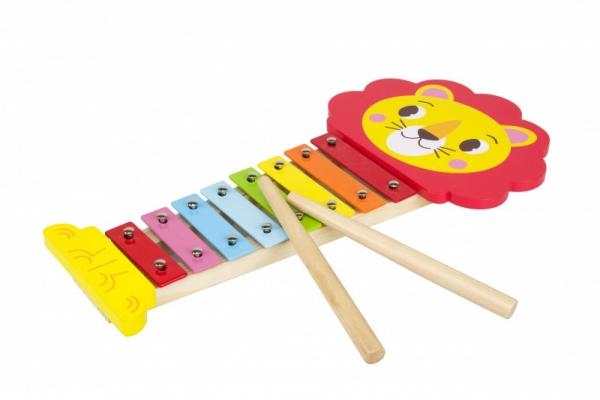 Cymbałki drewniane ksylofon Lew (13010)