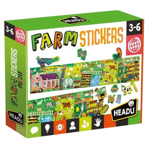 Puzzle farma z naklejkami