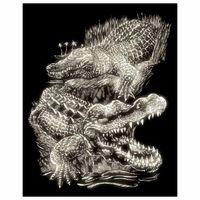 Wydrapywanka Standard świecąca - Krokodyle