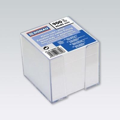 Kostka DONAU nieklejona, w pudełku, 92x92x82mm, biała