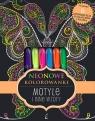 Neonowe kolorowanki Motyle i inne wzory
