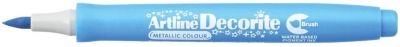 Marker specjalistyczny Artline metaliczny decorite, niebieski pędzelek końcówka (AR-035 1 8)